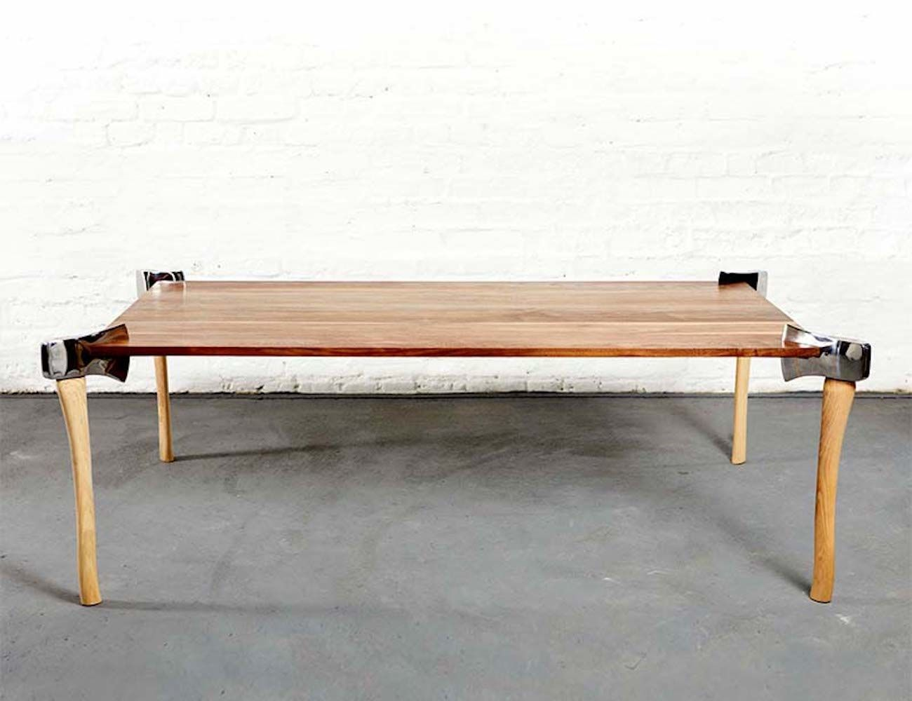 Woodsman Wood Axe Table » Gadget Flow