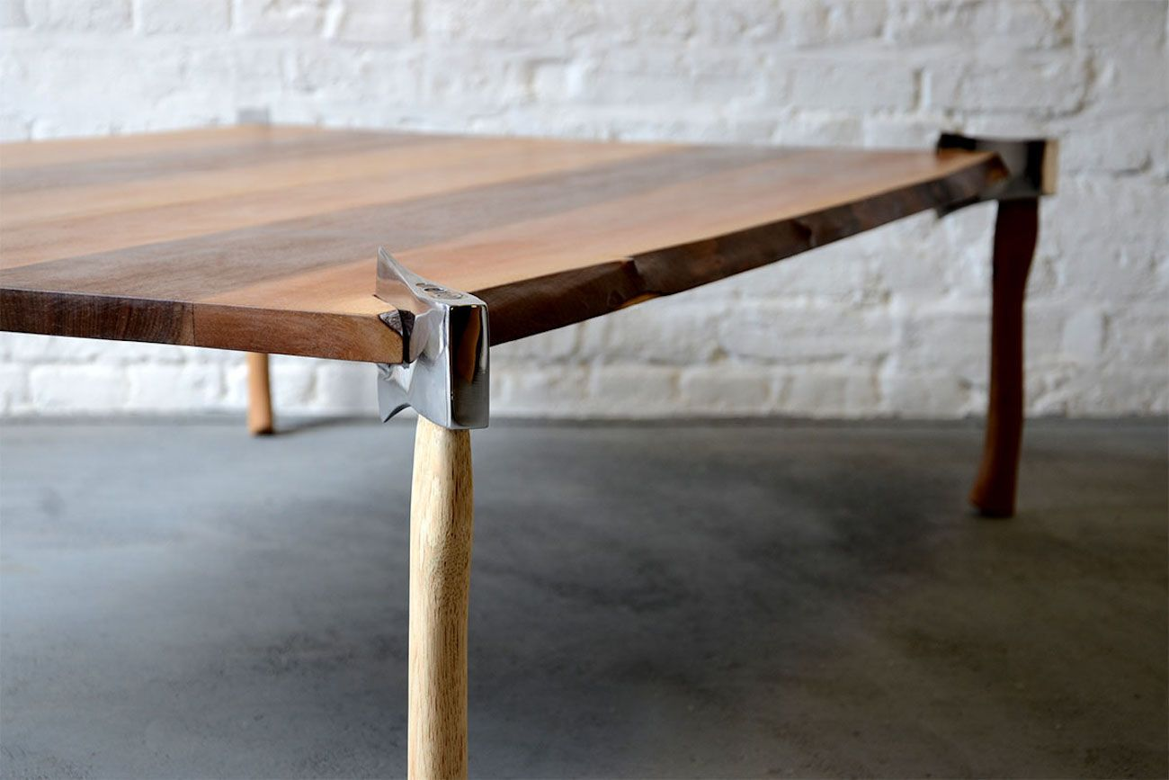Woodsman Wood Axe Table