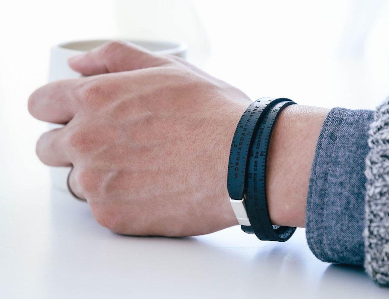Workhard Anywhere Leather Ruler Bracelet