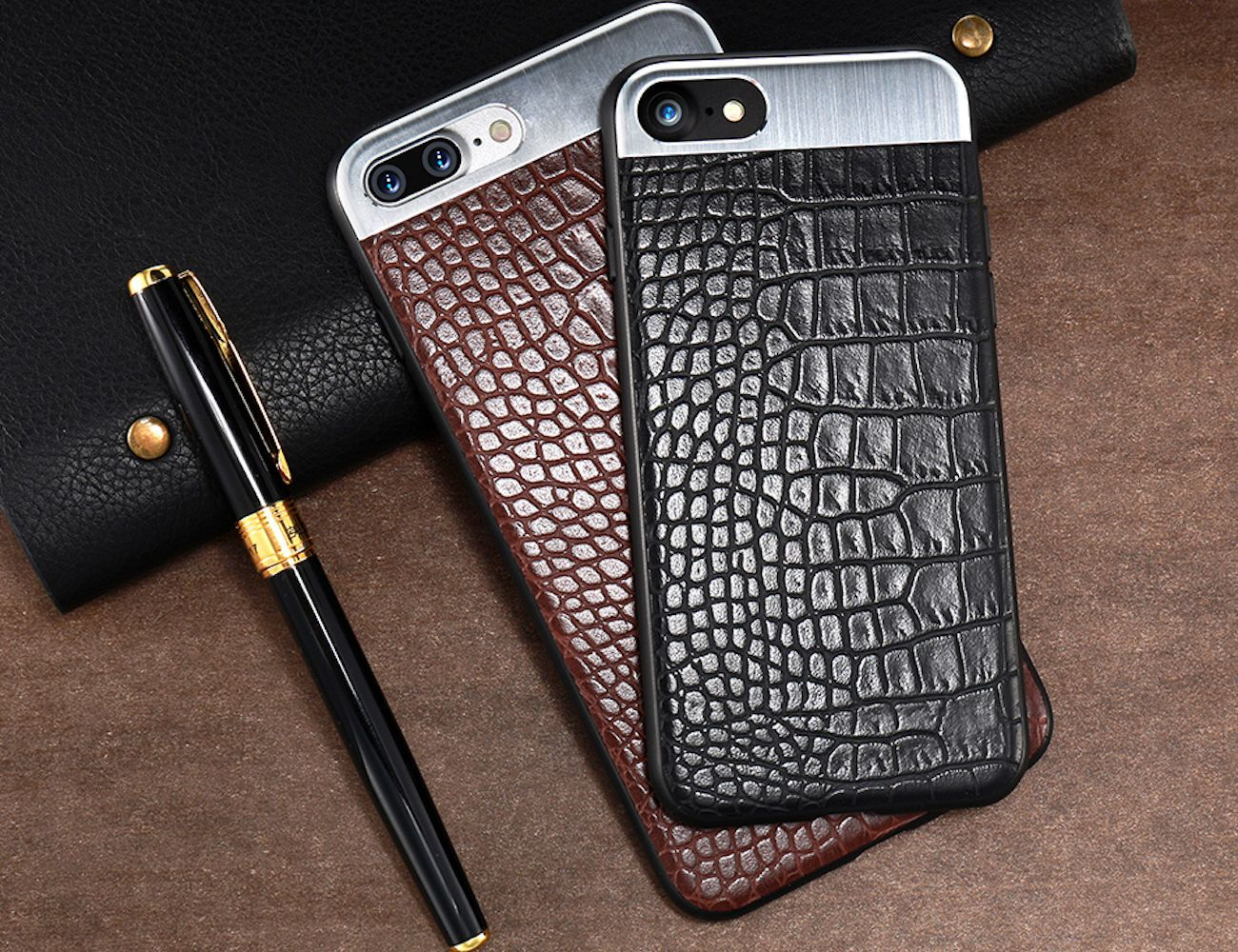 Metal + Leather iPhone 7 Back Cover