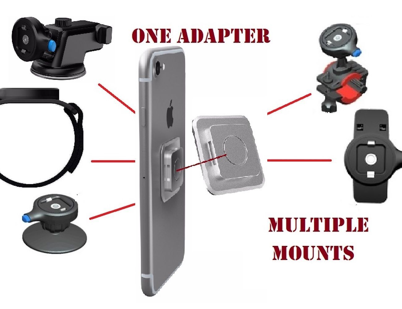 Clipster Universal Smartphone Mounting System