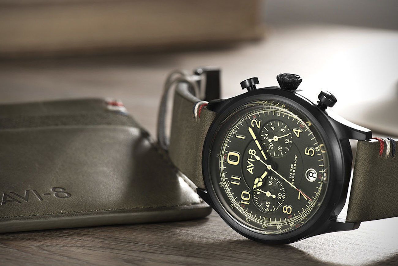 AVI-8 Flyboy Lafayette Chronograph Watch
