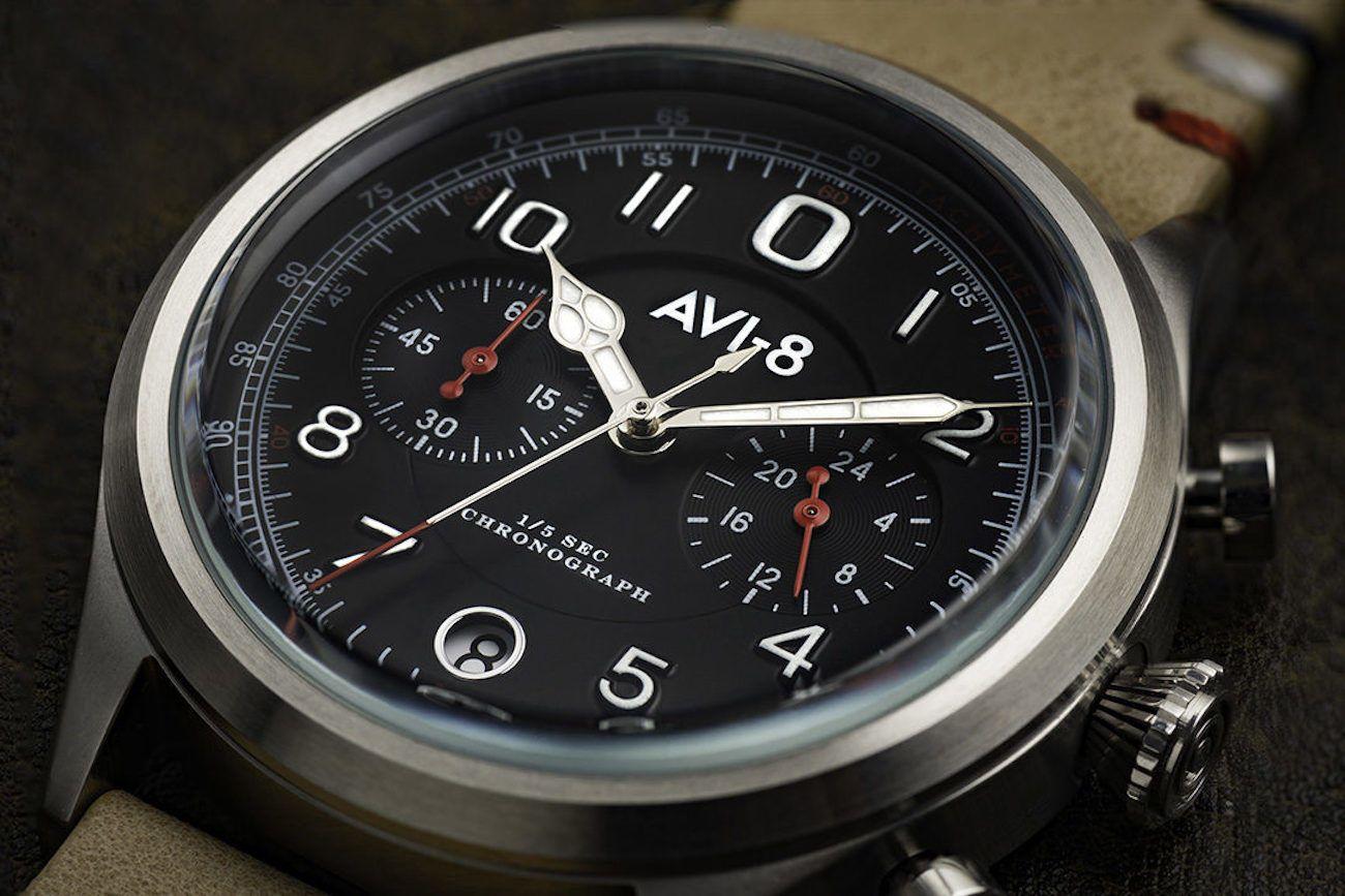 AVI-8 Flyboy Lafayette Chronograph Watch