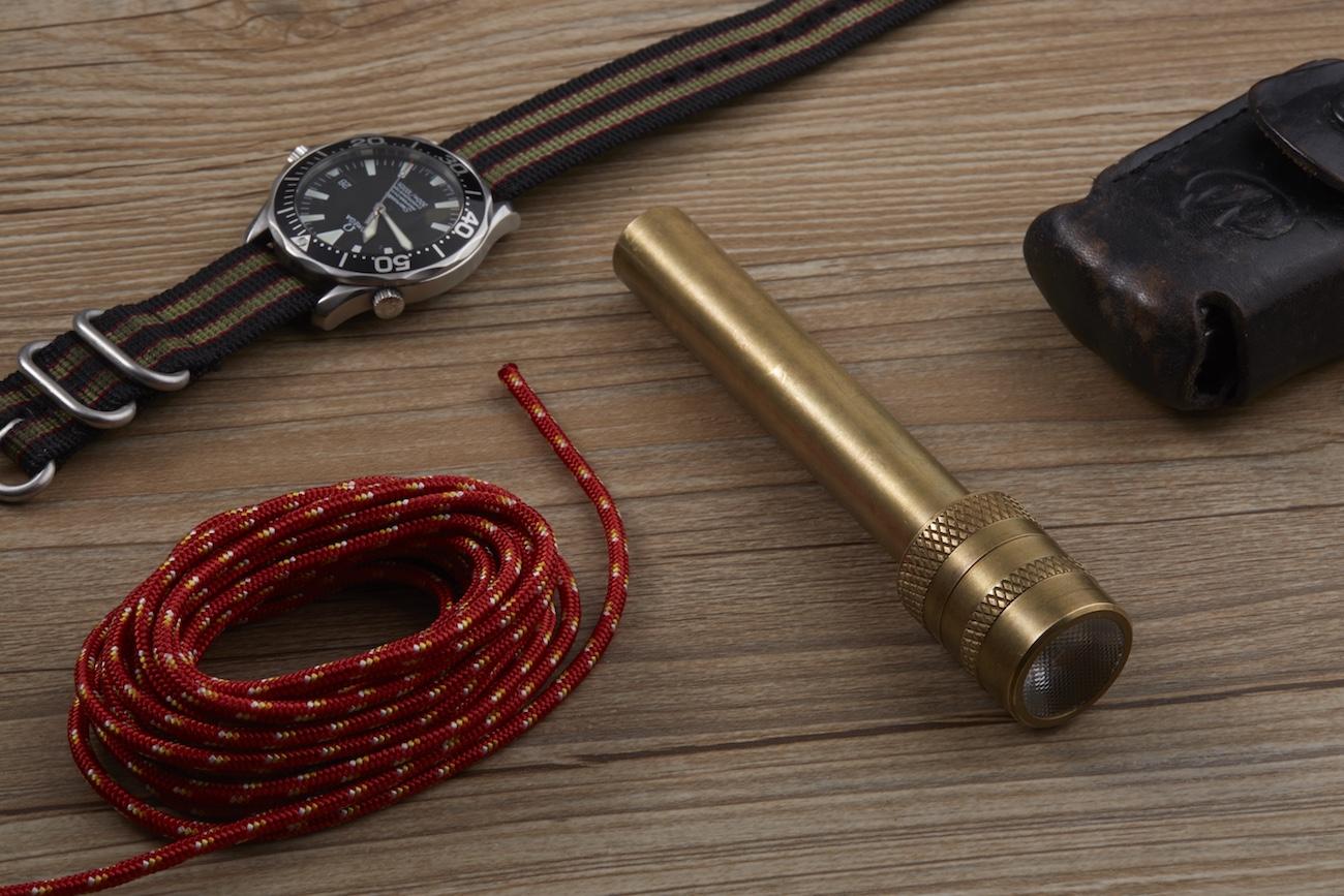 Apollo Penlight Brass Flashlight