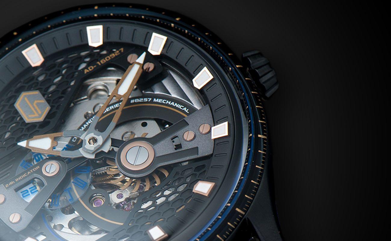 CJR Commander Series Skeleton Watch