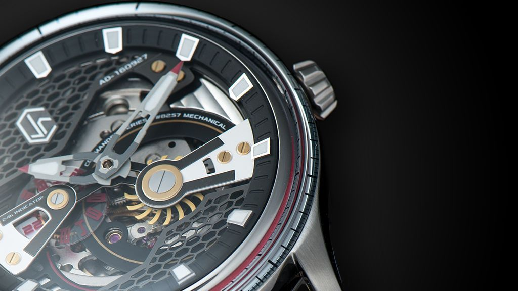 CJR Commander Series Skeleton Watch