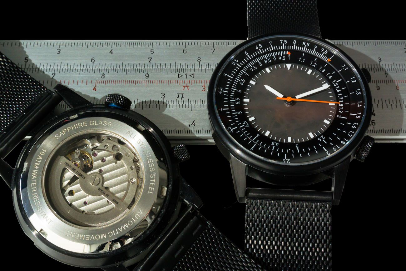 Caliper Slide Rule Mechanical Watch