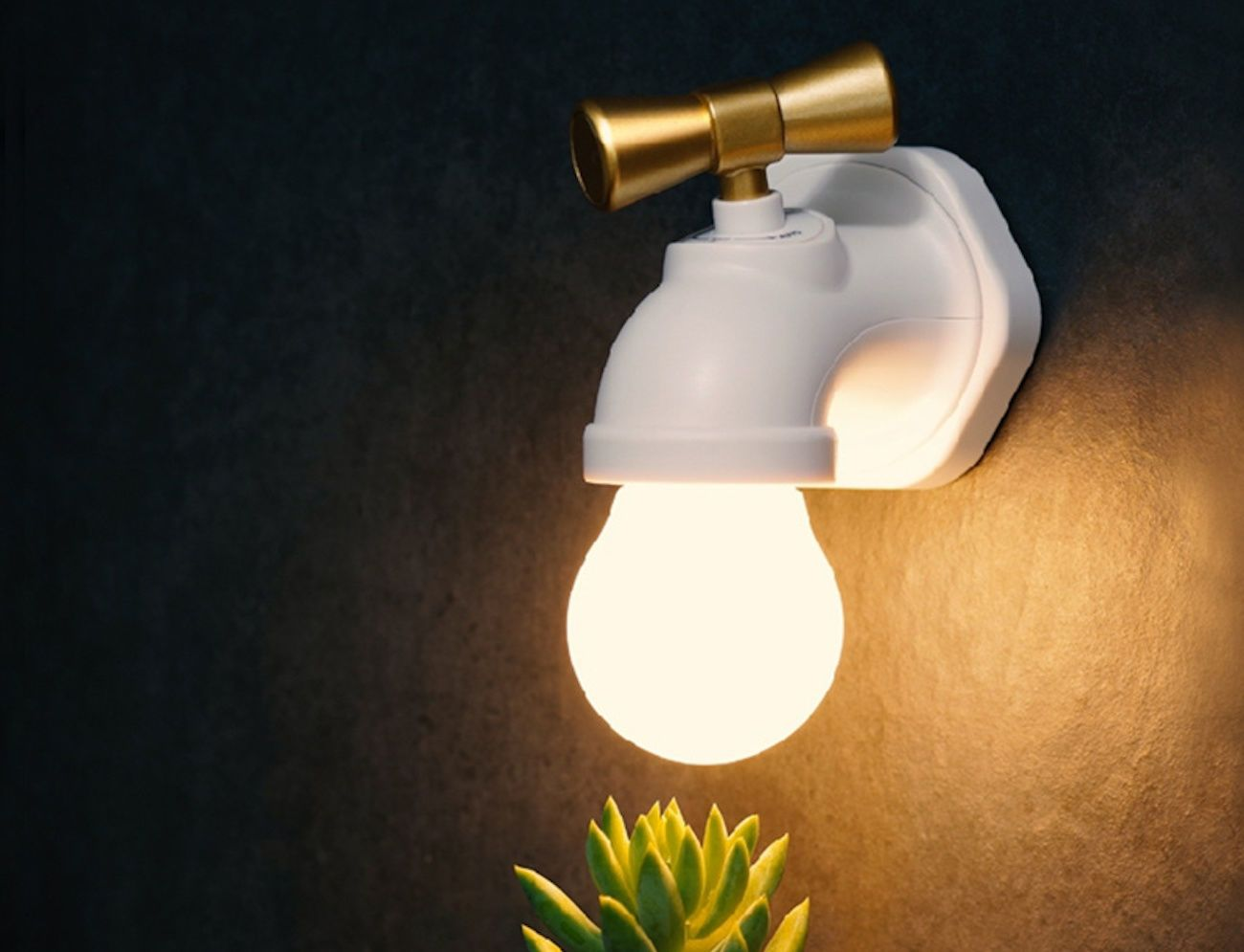 Faucet-Shaped LED Night Lamp