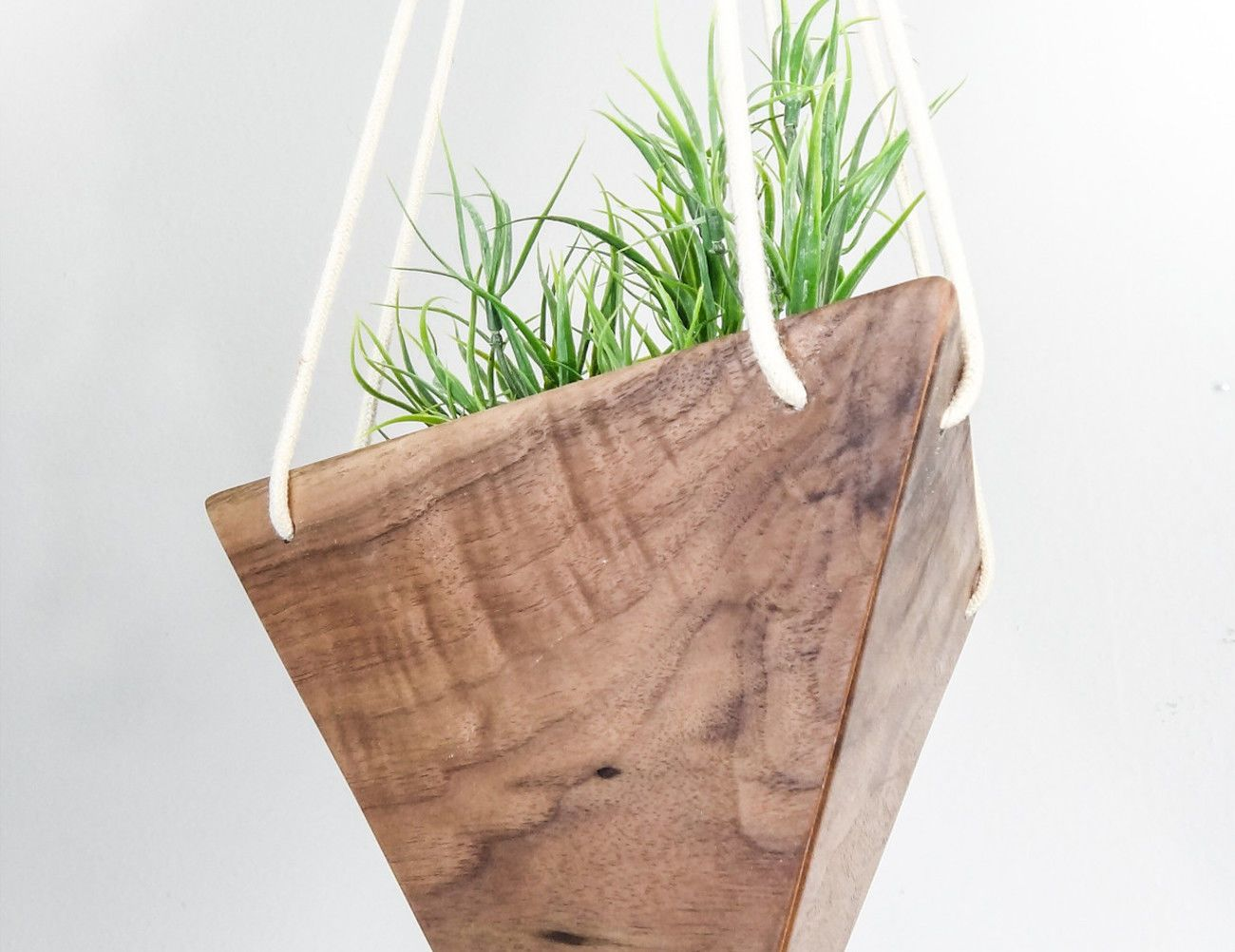 Fernweh Geometric Hanging Wood Planter