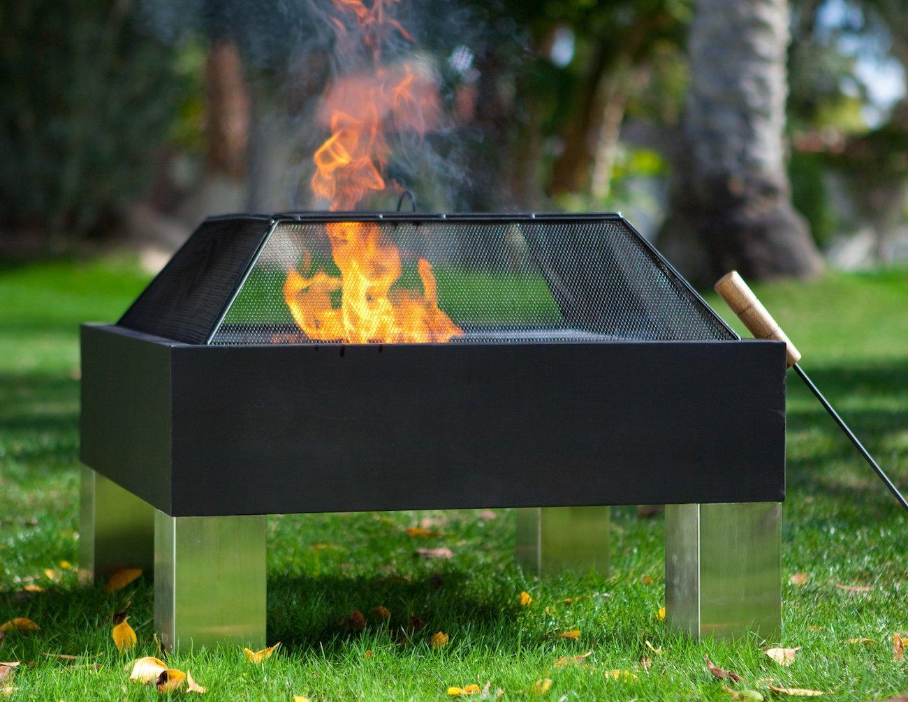 Fire Sense Hotspot Square Fire Pit