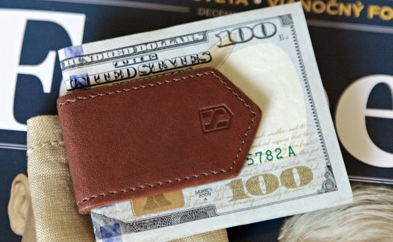 HUSKK Leather Magnetic Money Clip