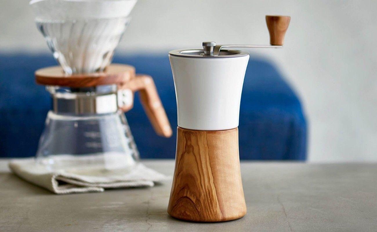 Hario Ceramic and Wood Coffee Grinder