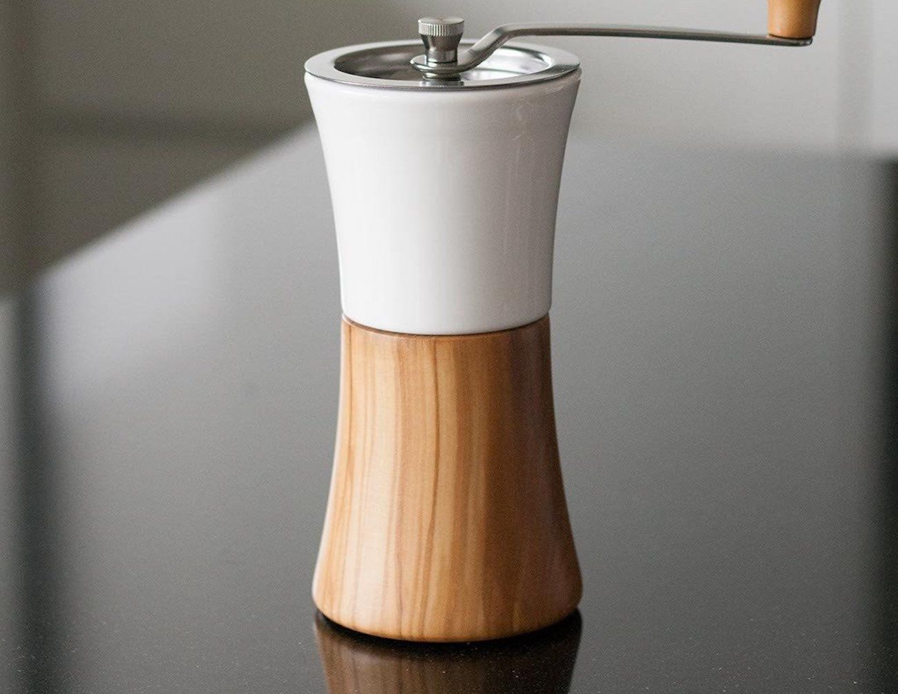 Hario Ceramic and Wood Coffee Grinder » Gadget Flow