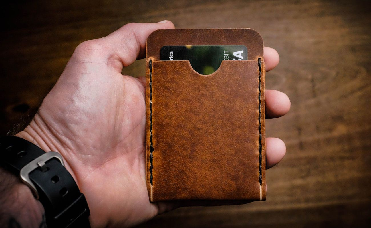 Hitch & Timber Flat Jacket Leather Wallet