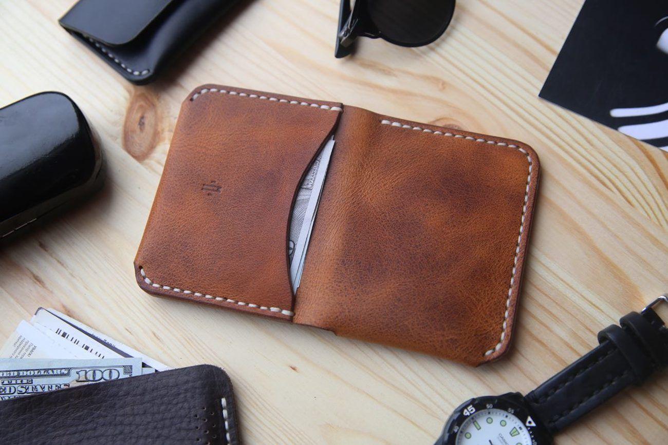Horween+Leather+Bifold+Pocket+Wallet