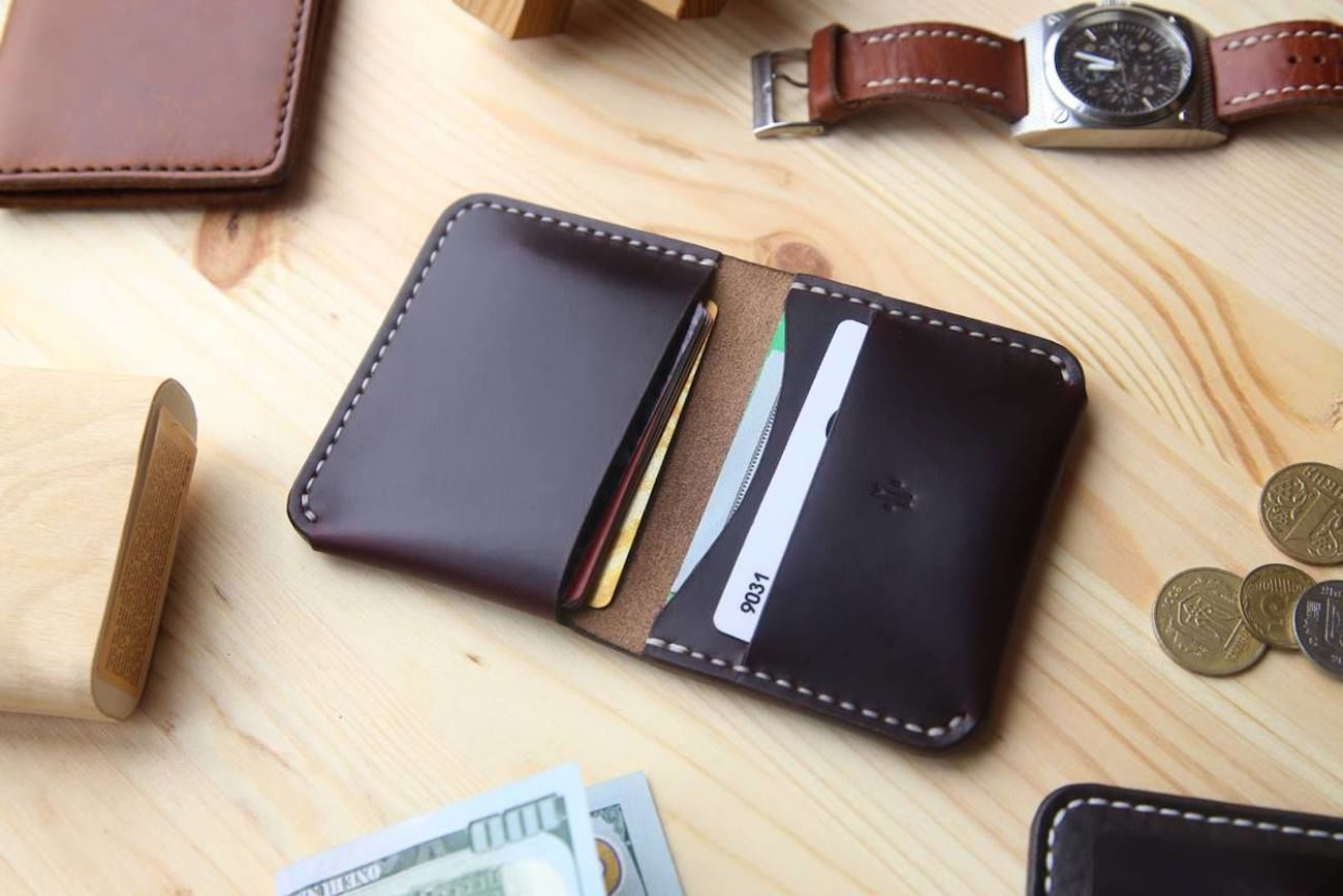 Horween Leather Bifold Pocket Wallet