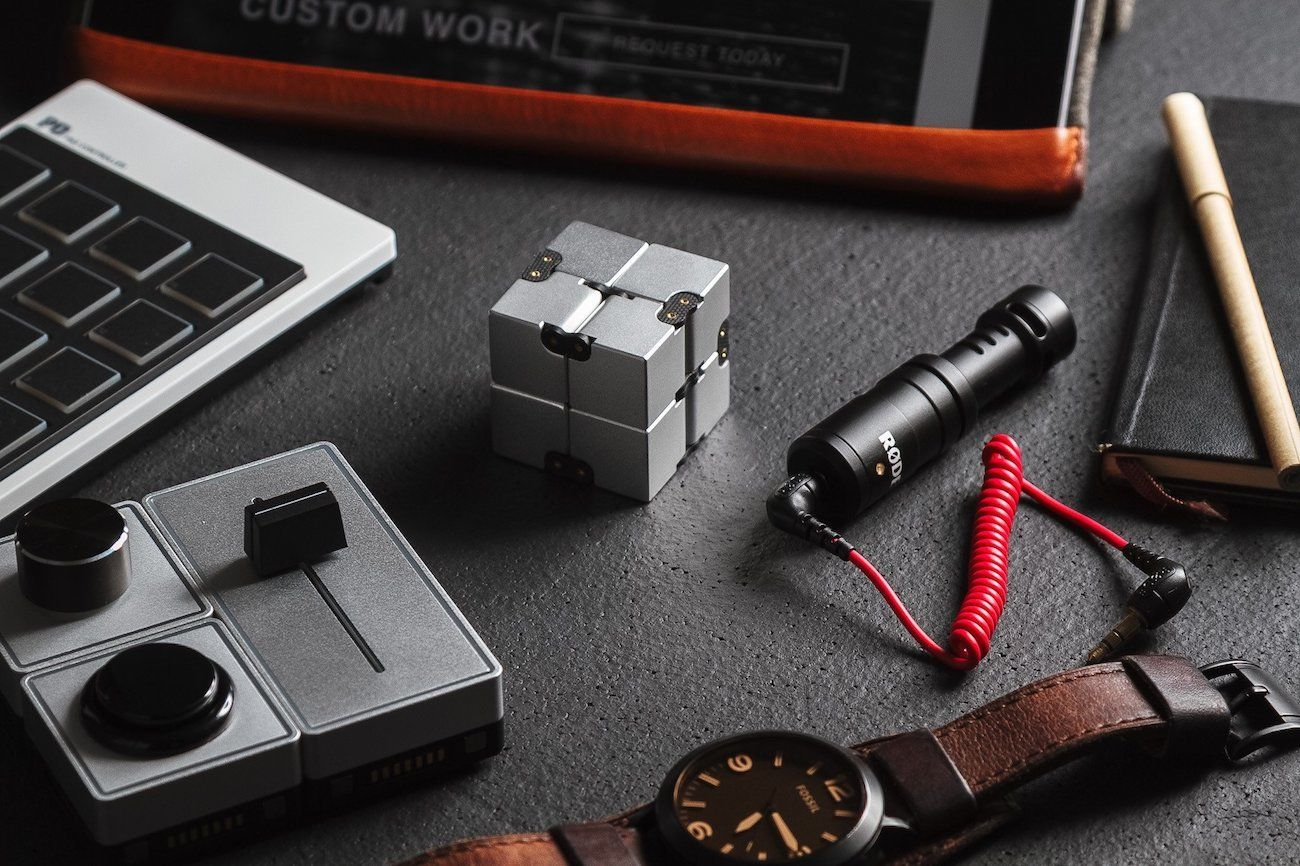 infinity cube. infinity cube aluminum fidget toy y