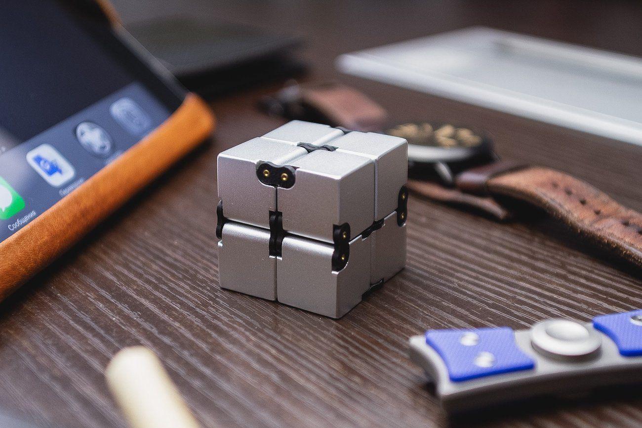 Infinity Cube Aluminum Fidget Toy 187 Gadget Flow