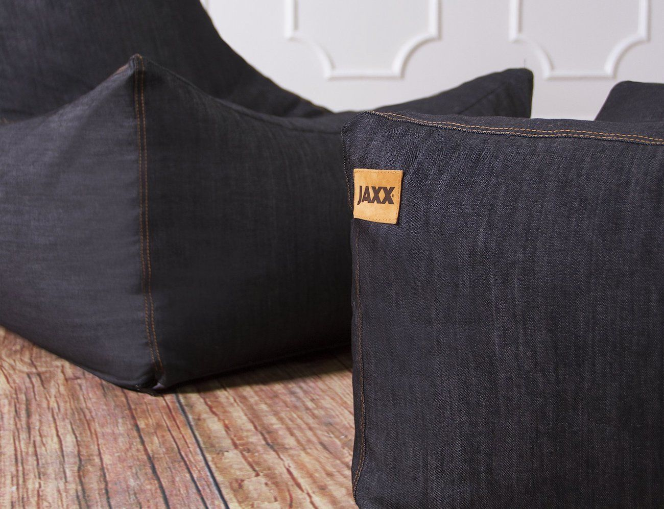 Jaxx Juniper Denim Bean Bag Chair