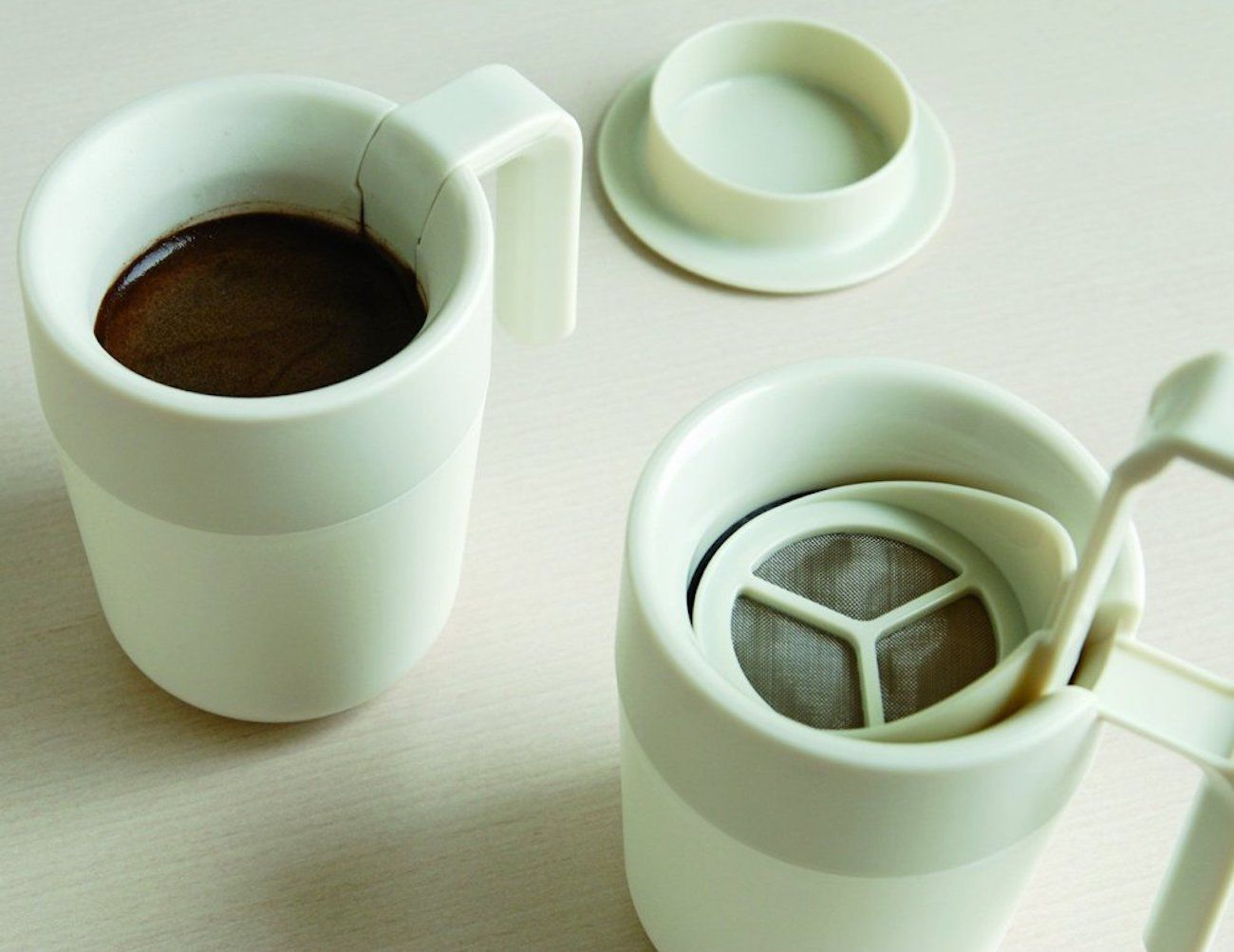 Kinto Cafe Press Instant Coffee Mug
