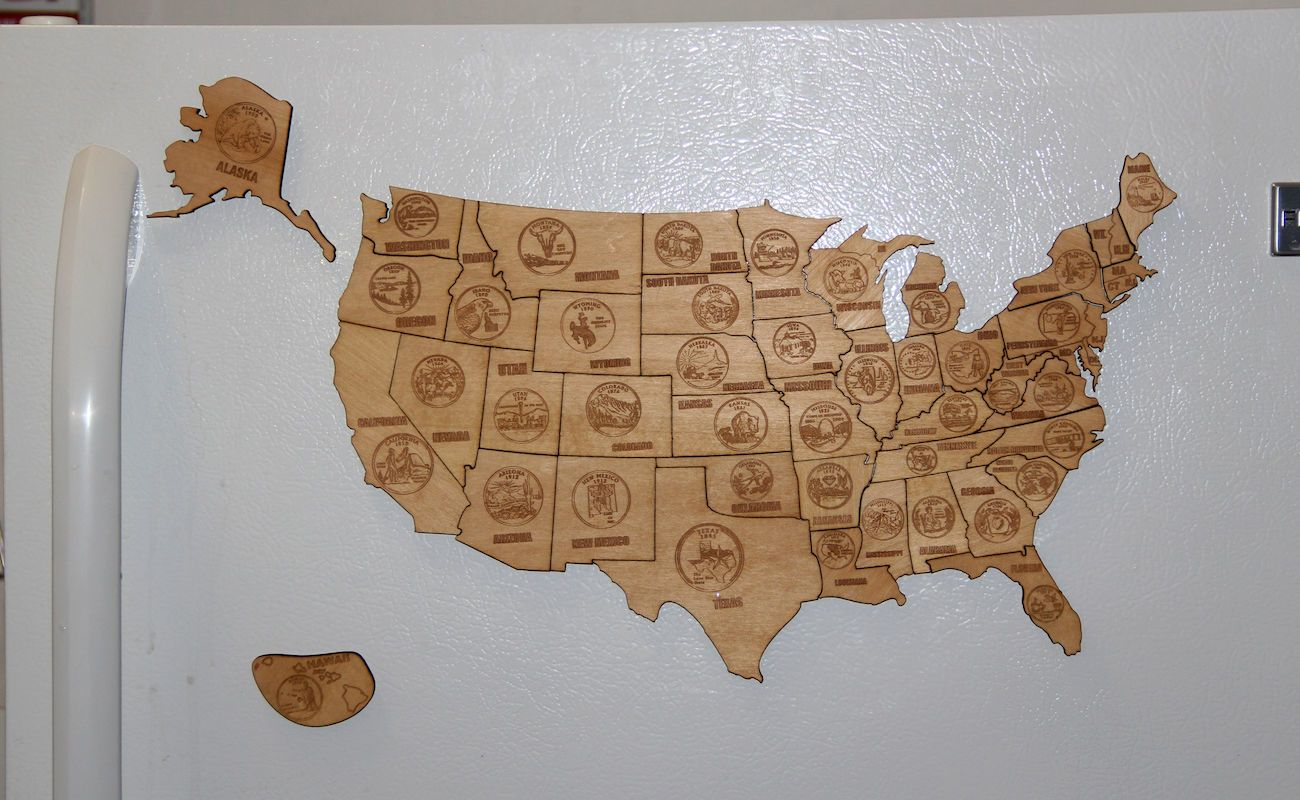 Magnetic Wood USA Puzzle Map » Gadget Flow