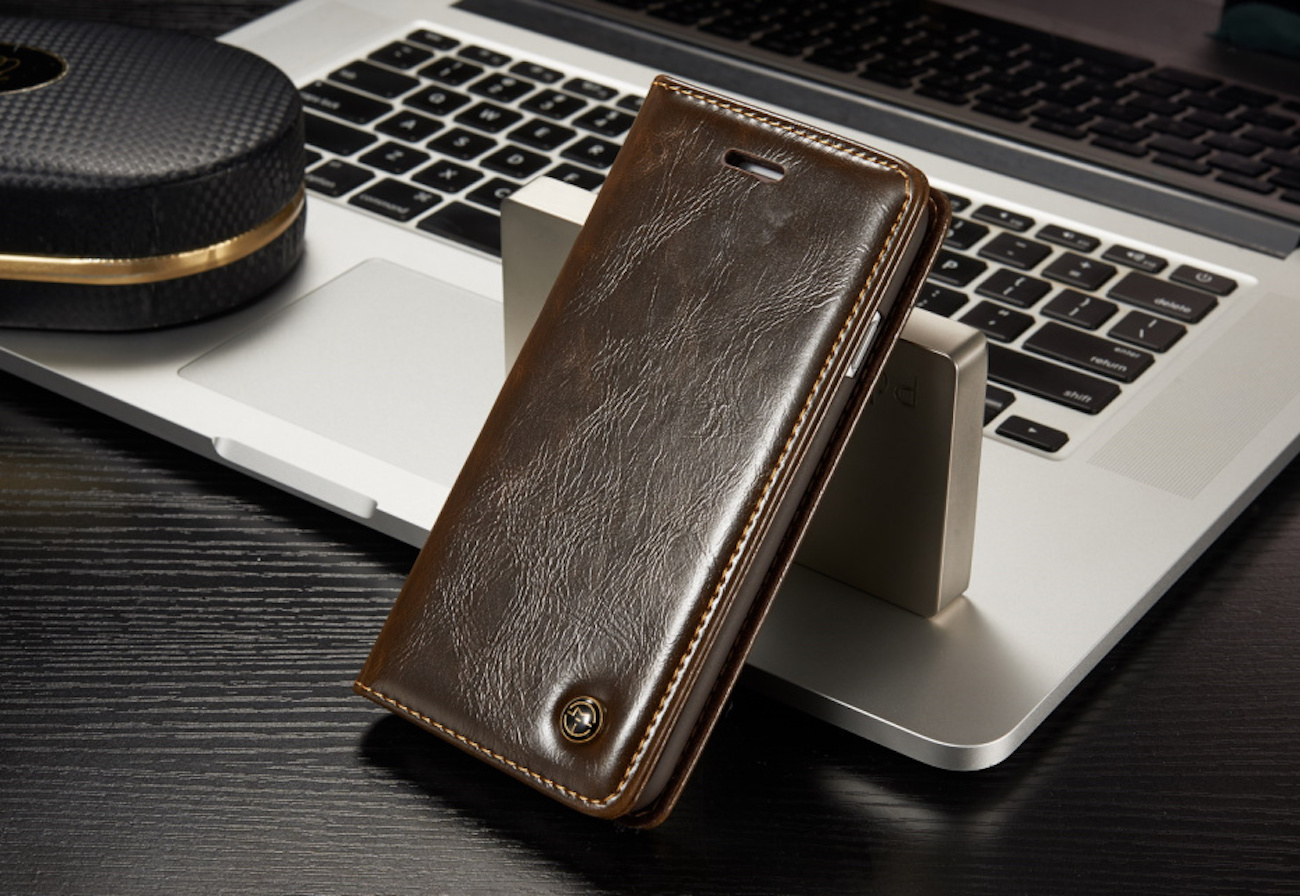 Magnetic iPhone Flip Wallet Case