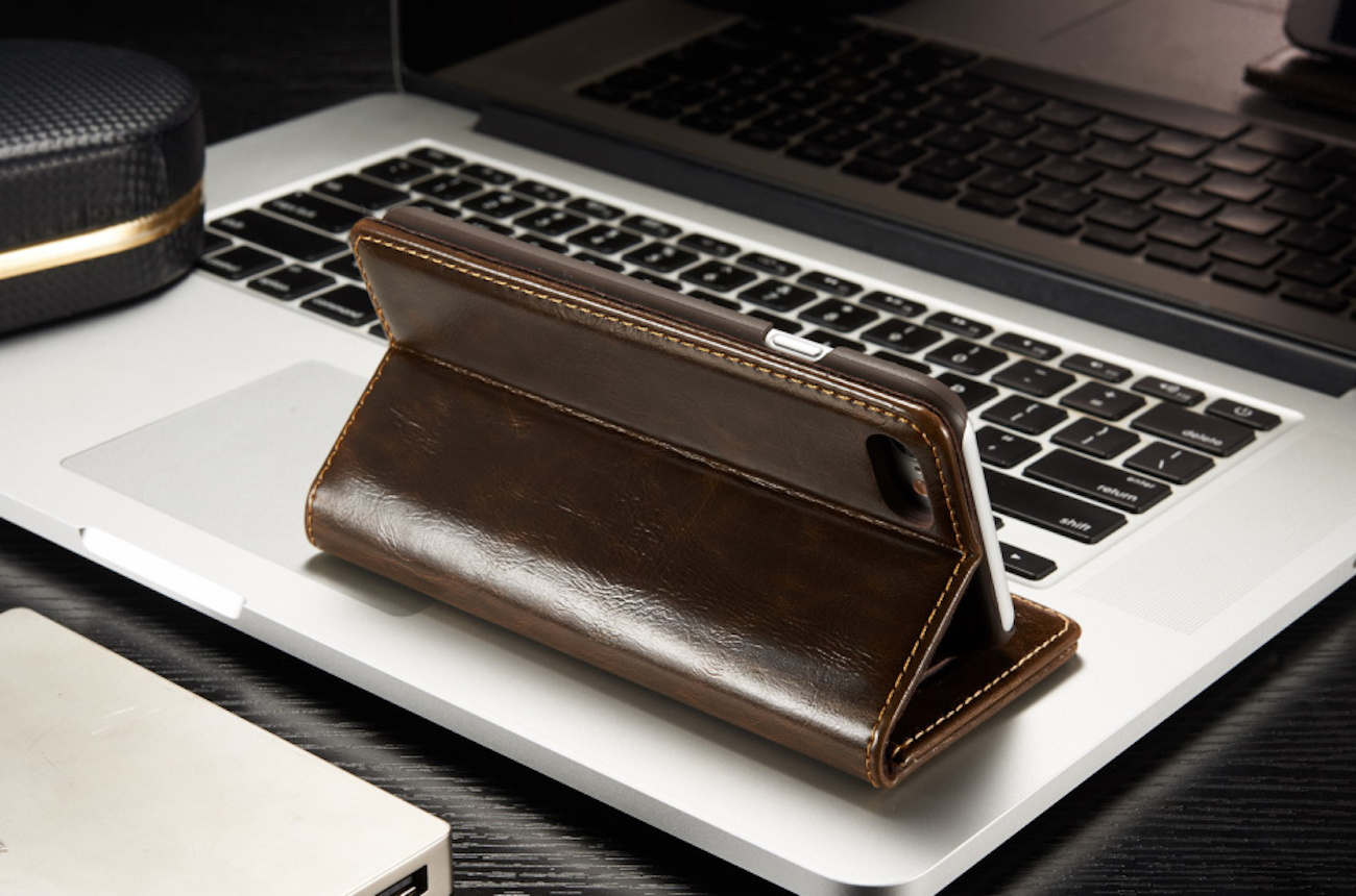 Magnetic iPhone Flip Wallet Case