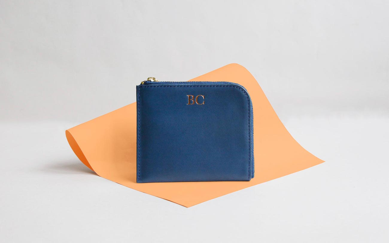 Marco Polo Half Zip Leather Wallet