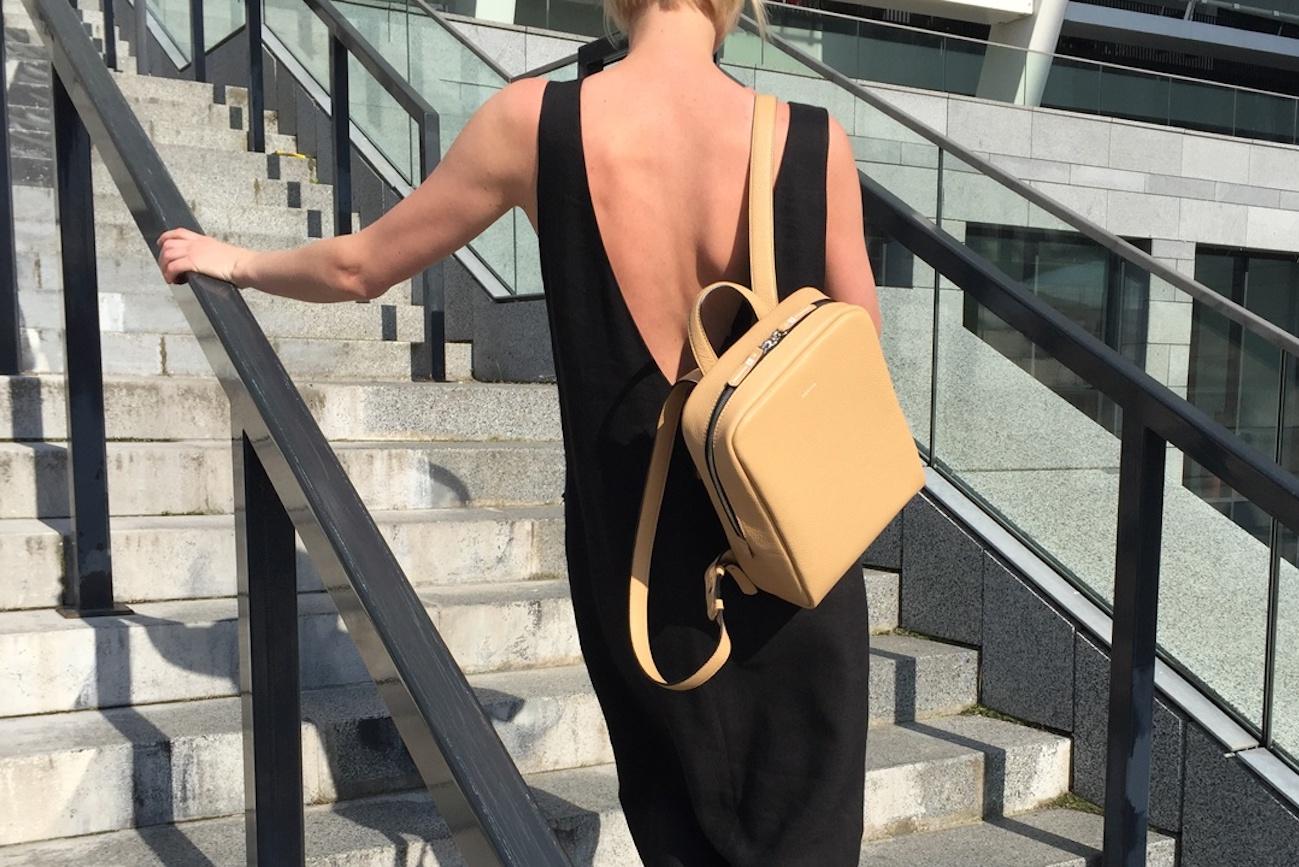 Moreca Voyage Leather Mini Backpack