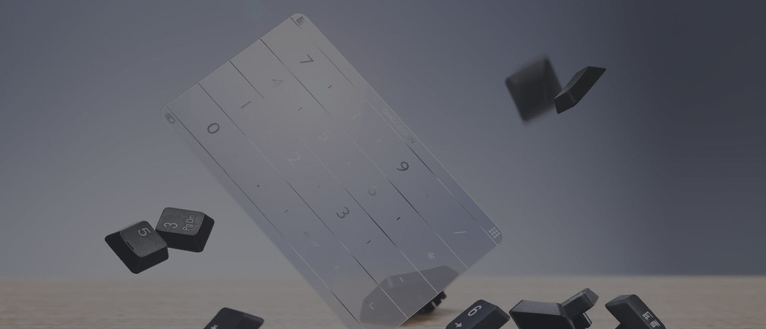 Nums Smart Glass Trackpad Keyboard