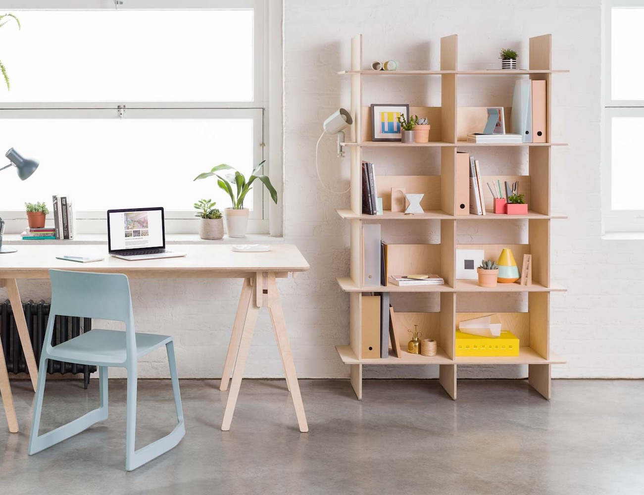 Open+Desk+Linnea+Custom+Bookshelf