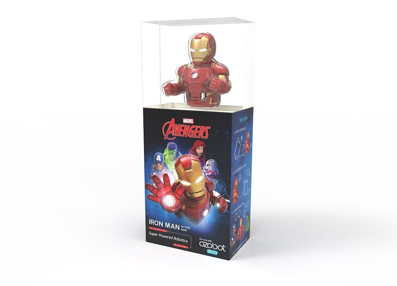 Ozobot Iron Man Connectable Smart Robot Skin