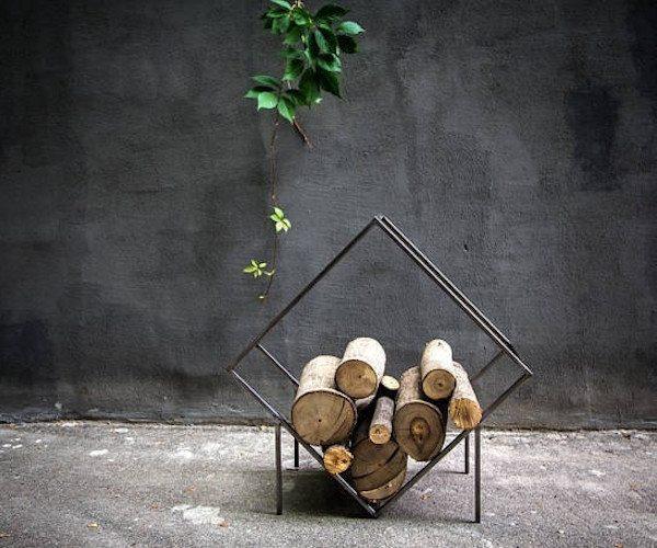 Slab Quadrat Small Firewood Holder