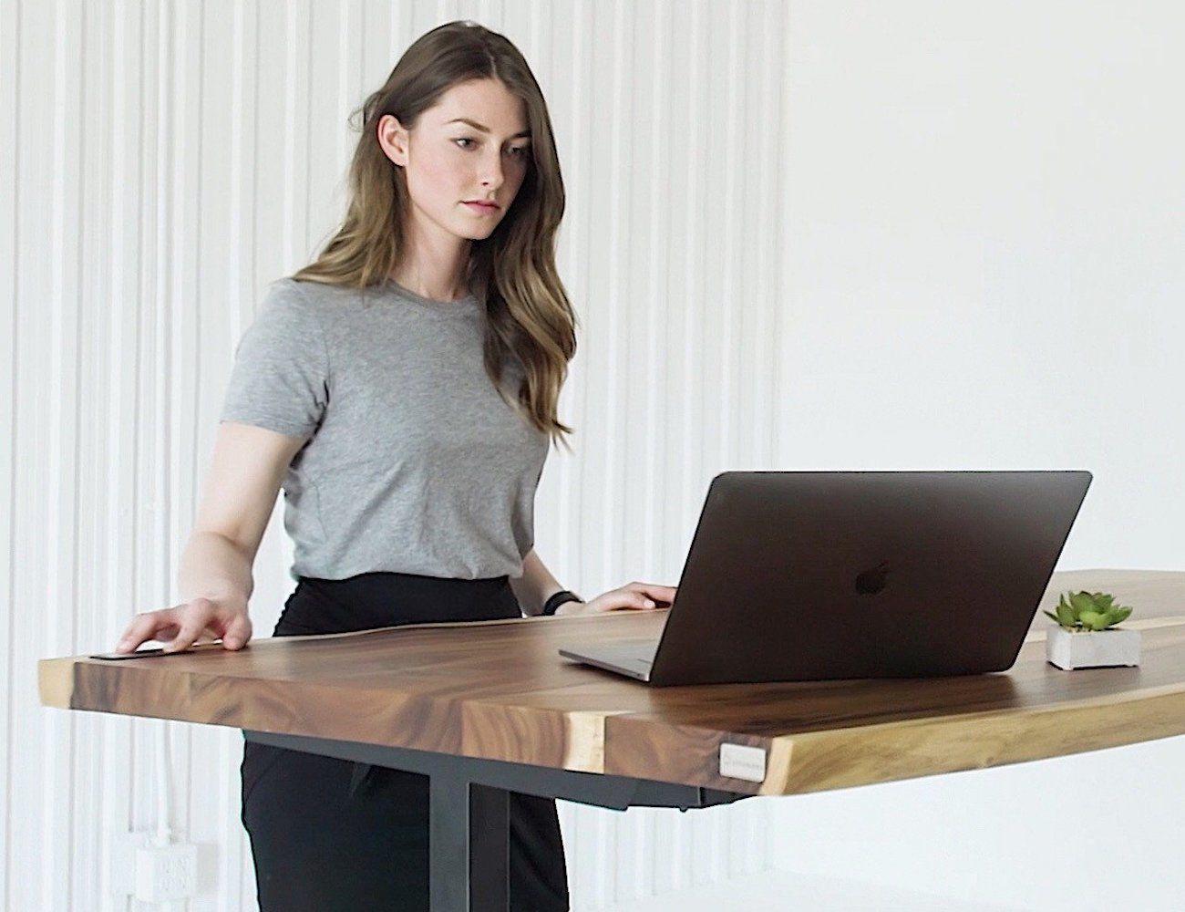 Sway Adjustable Height Wooden Desk