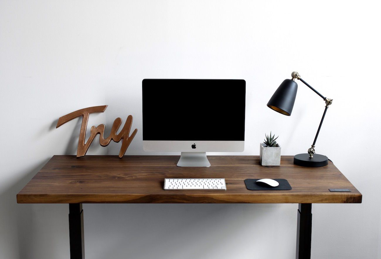 Sway Adjustable Height Wooden Desk