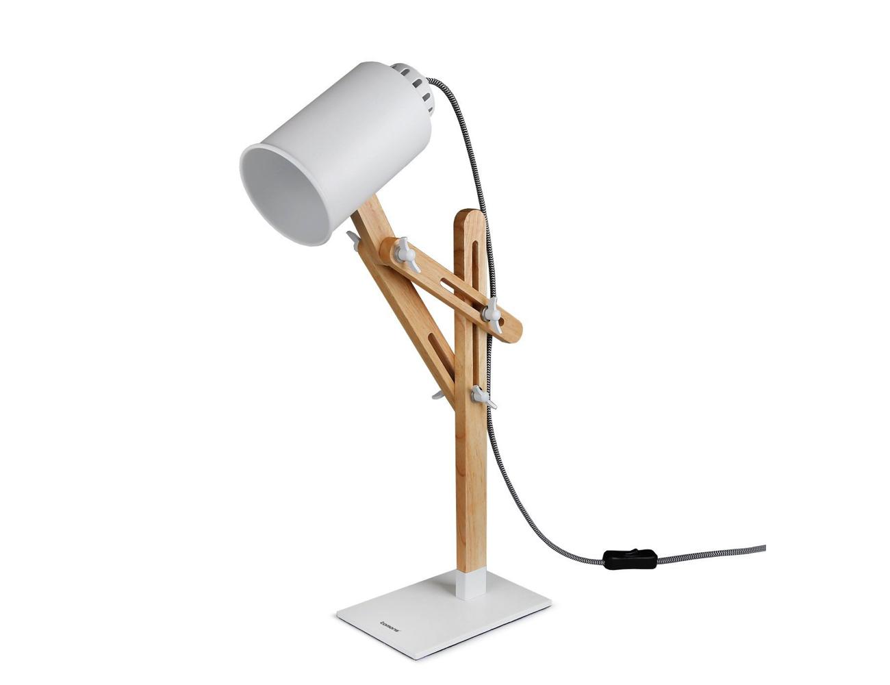 Tomons LED Multi-Angle Wood Desk Lamp