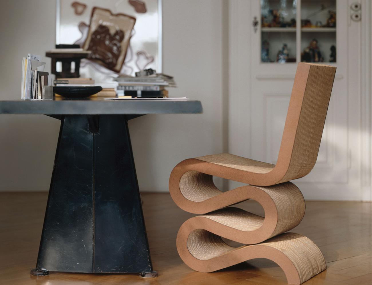 Vitra Wiggle Cardboard Side Chair