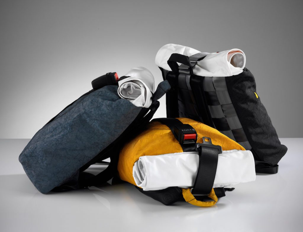 Airpaq+Upcycled+Airbag+%26%23038%3B+Seat+Belt+Backpack