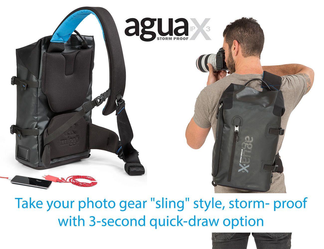 miggo Agua Storm-Proof Quick-Draw Sling Bag