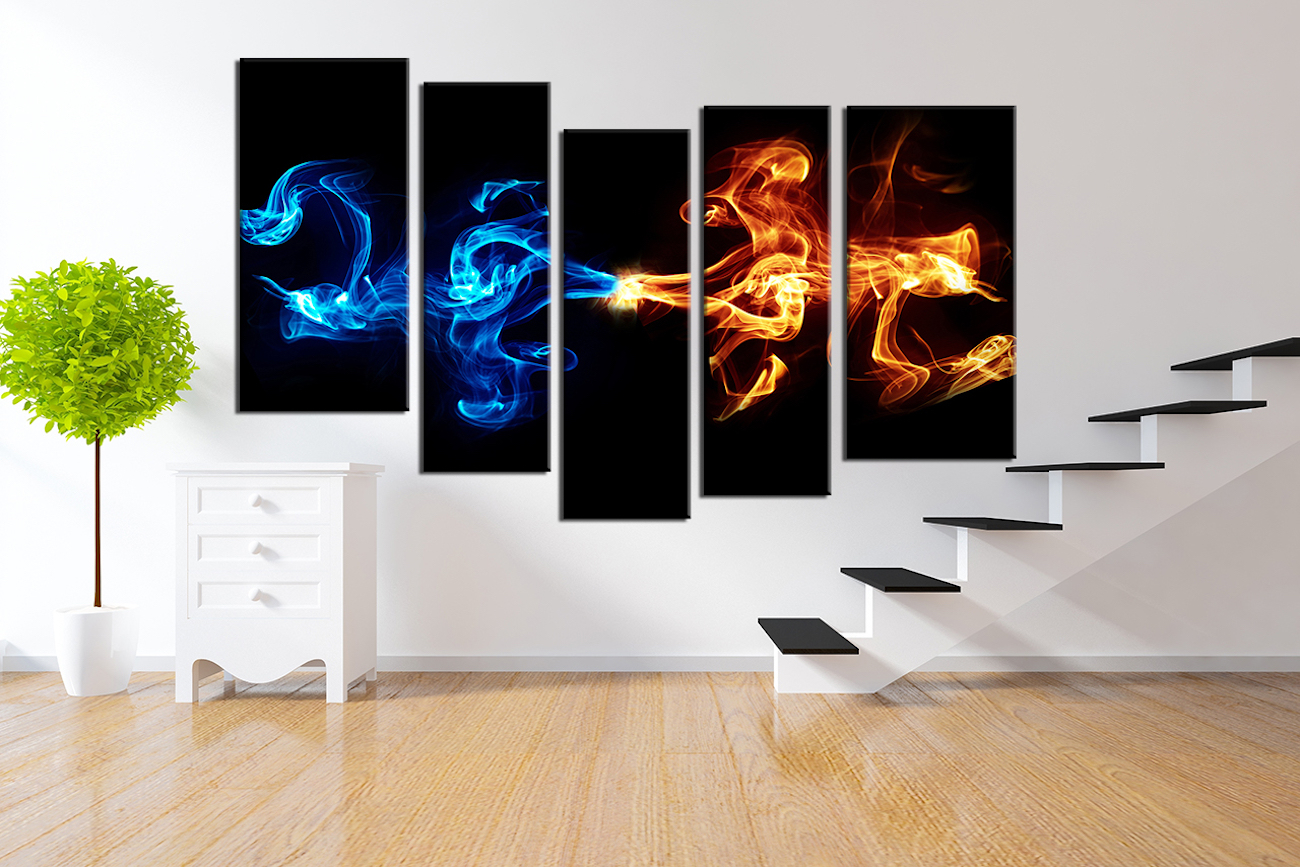 Beautiful  Abstract Piece Smoke Canvas Wall Art
