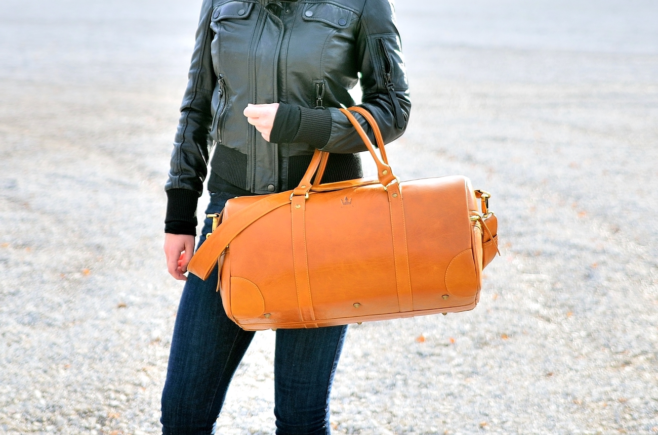 BOCCA Handmade Leather Duffel Bag
