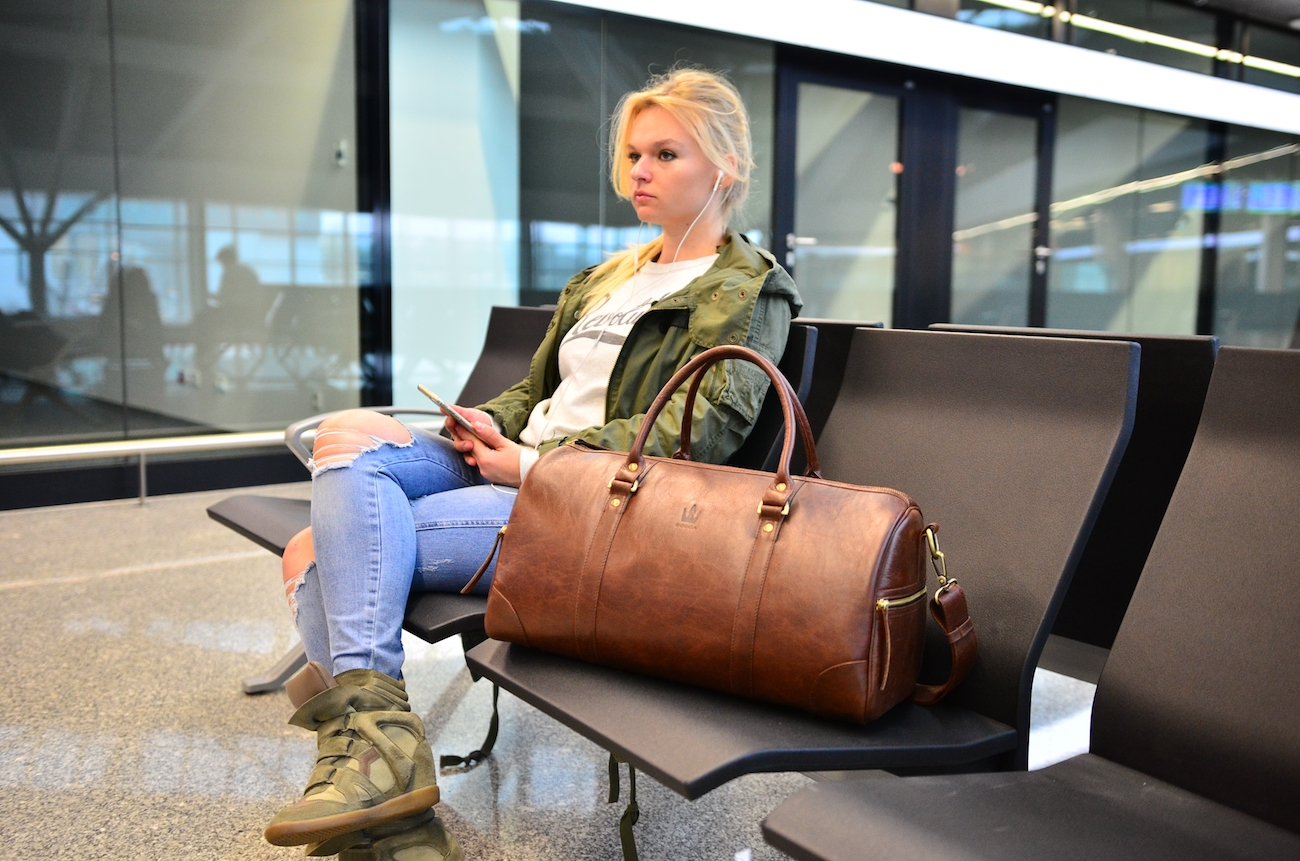 BOCCA Handmade Leather Duffel Bag