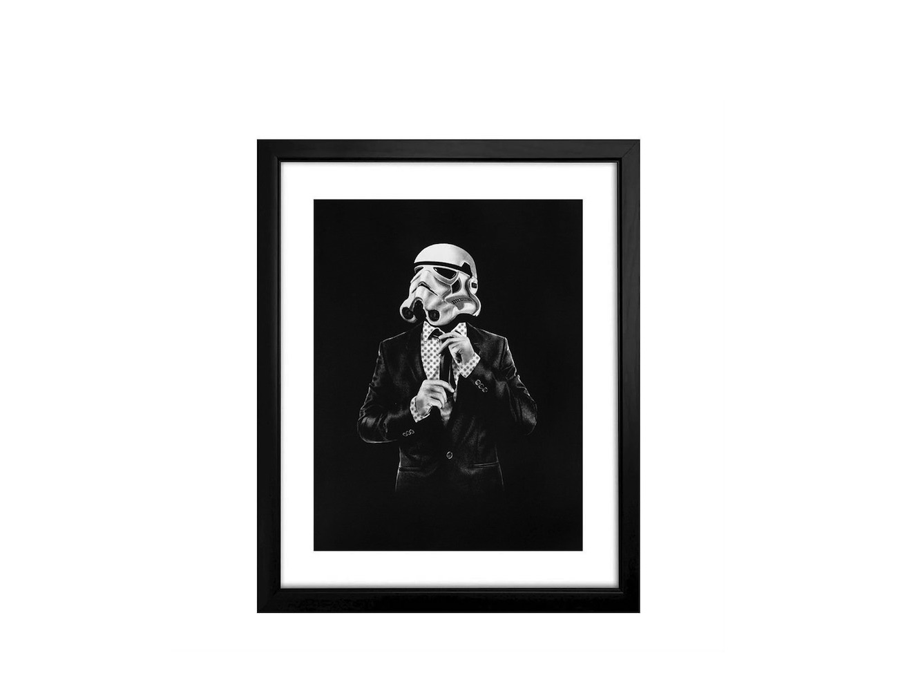 Classy Stormtrooper Suit and Tie Poster