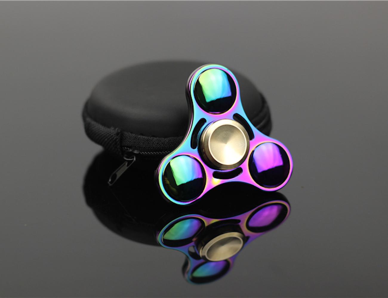 Colorfully Patterned Fidget Spinner