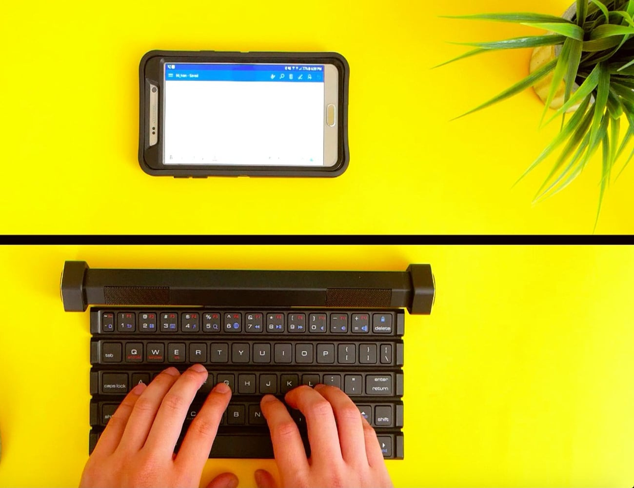 Compectus Rollable Keyboard with Speakers