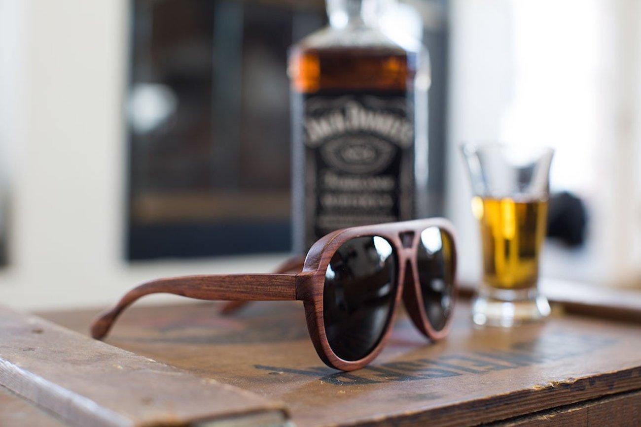 Emolly Rosewood Aviator Driving Glasses