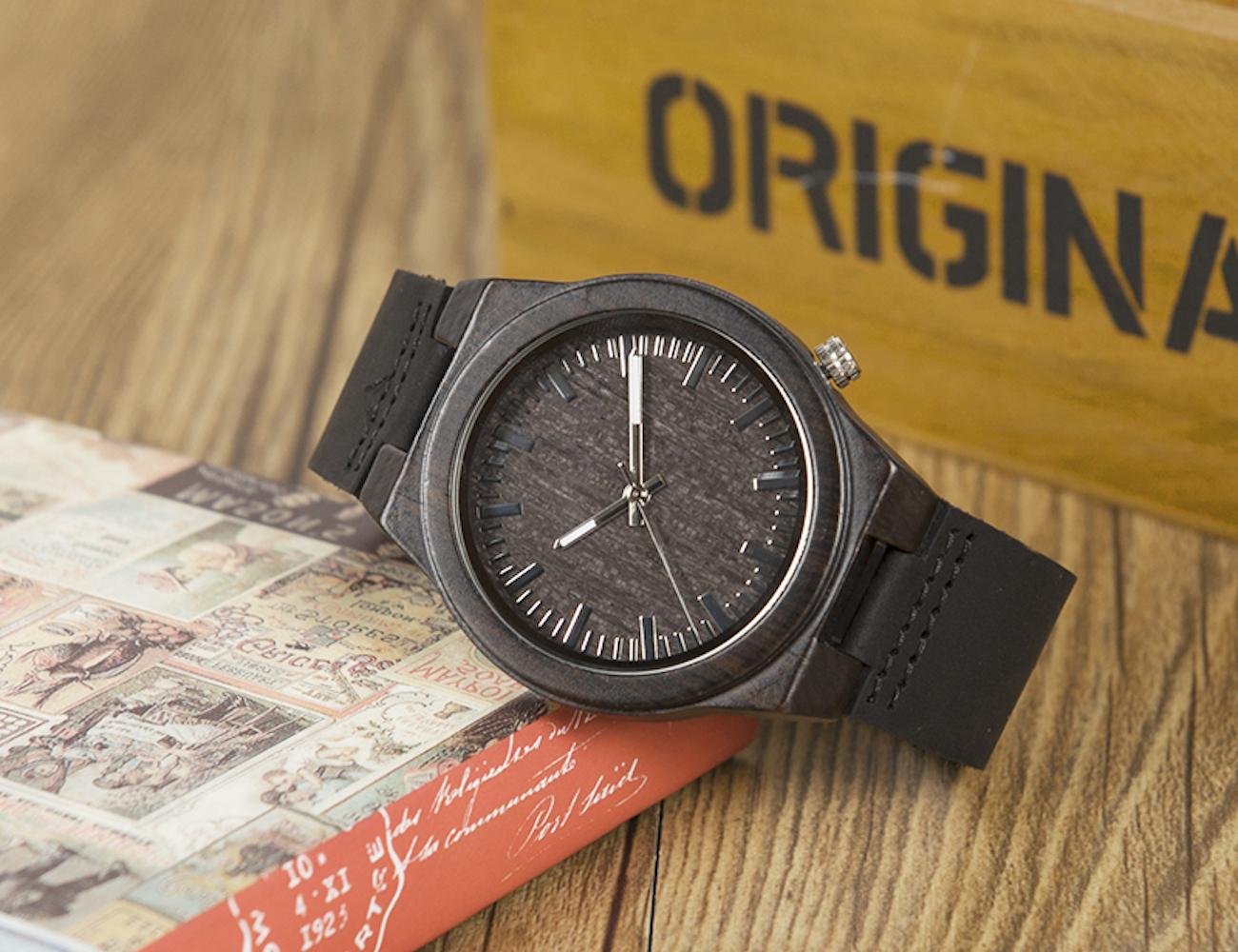 Ethnic Ebony Wood Watch