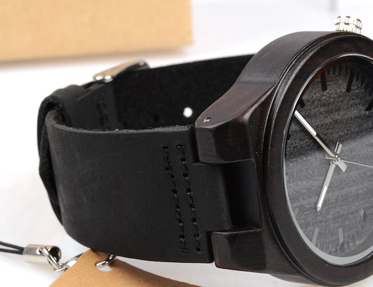 Ethnic Ebony Wood Watch