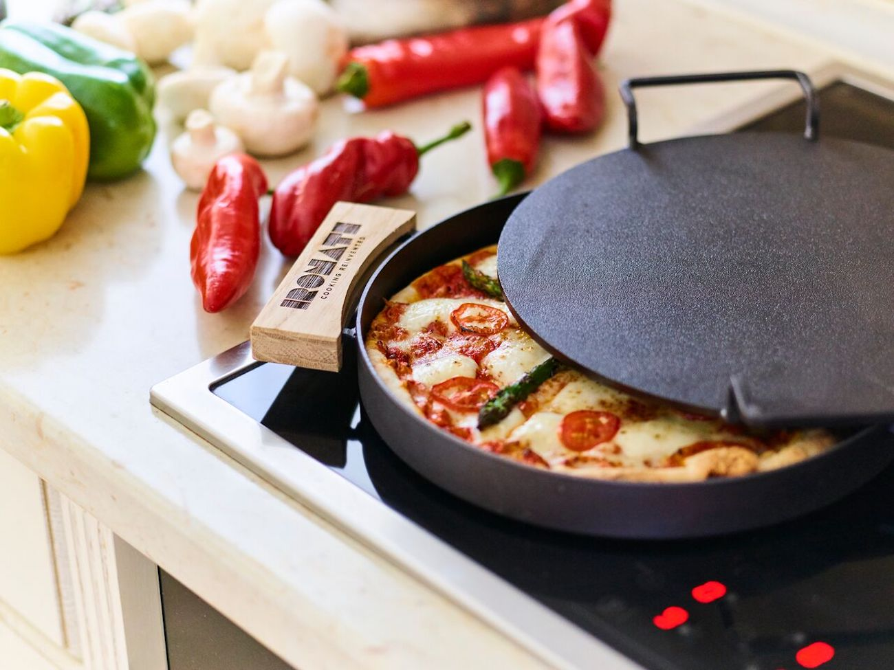 "IRONATE – Perfect ""No Oven"" Pizza In Just 3 Minutes"