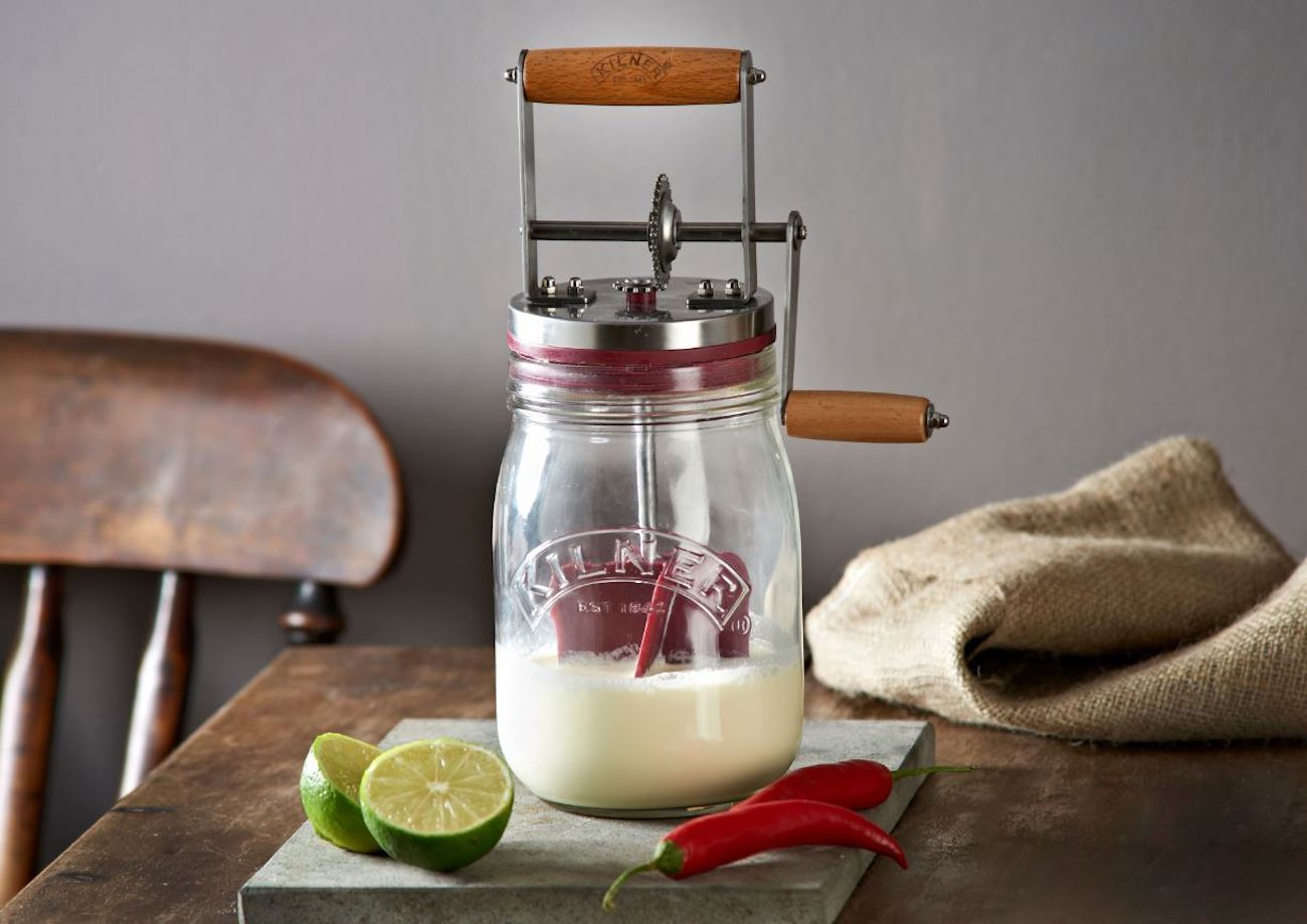 Kilner+Manual+Glass+Butter+Churn
